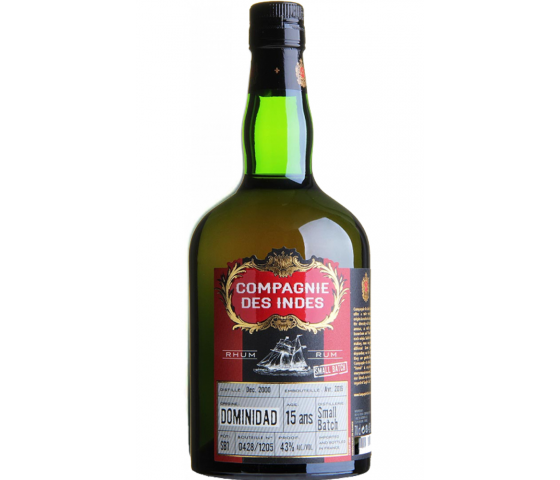 Compagnie des Indes Dominidad 15 Years Old Small batch - Blend